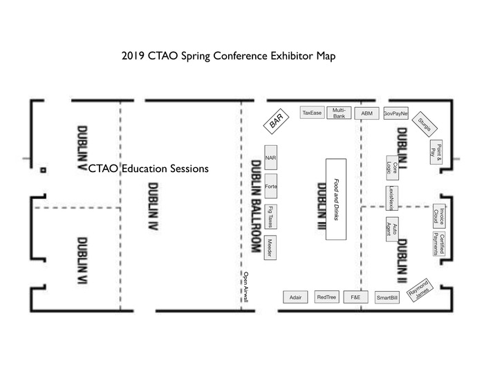 2019 Spring Conference Exhibitor Layout